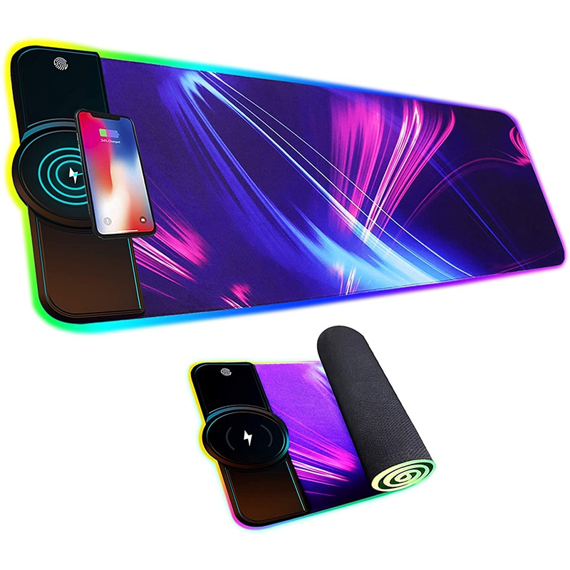 LED Light Wireless Charger RGB  Mouse Pad xxl 10W/7.5W Luminous Gaming Mouse Pad Computer Mousepad  Desk Mat Mouse Pad Gamer