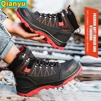 men and women work safety shoes 2021 new suitable for outdoor steel toed anti smashing and anti piercing protective shoes