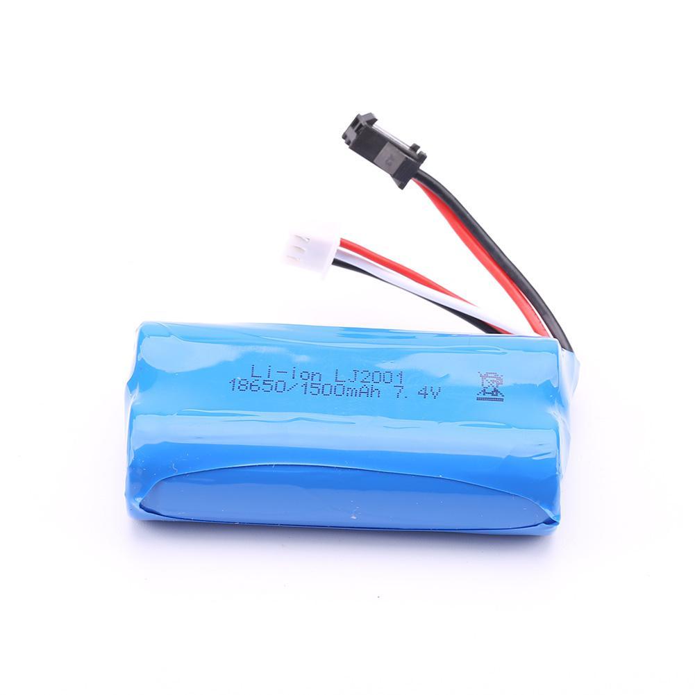 Glorystar 18650 7.4 v 1800 mah lipo bateria sm plug para wltoys 104311 1/10 2.4g 4x4 rastreador rc carro atualizar peças