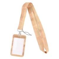 jf1060 wood grain print lanyard for key id card gym phone strap usb badge holder diy lariat lanyard fashion buttons accessories