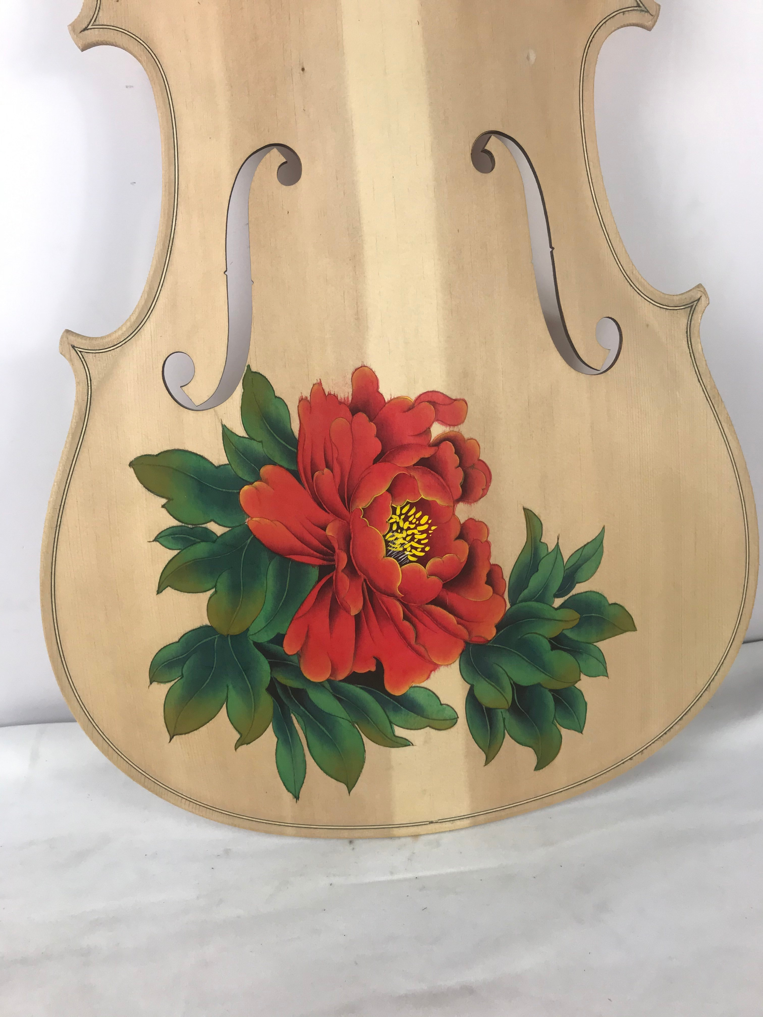 Traditonal Chinese Realistic Painting 1/4 Cello Panel Hand Painting on Spruce Wood Art Drawing on Cello enlarge