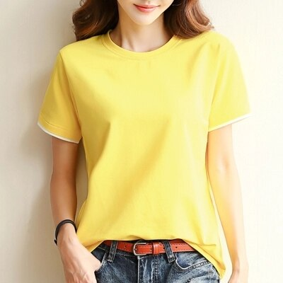 2020 nuevo Jersey camiseta mujeres moda desgaste cuello redondo bottoming