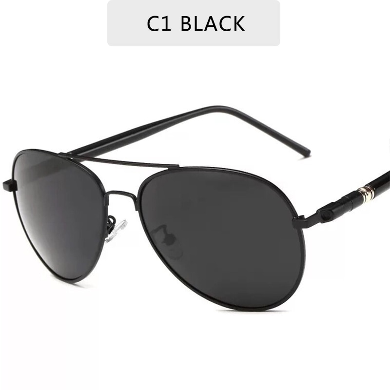 Солнцезащитные очки-авиаторы Мужские поляризационные, брендовые дизайнерские винтажные солнечные очки UV400