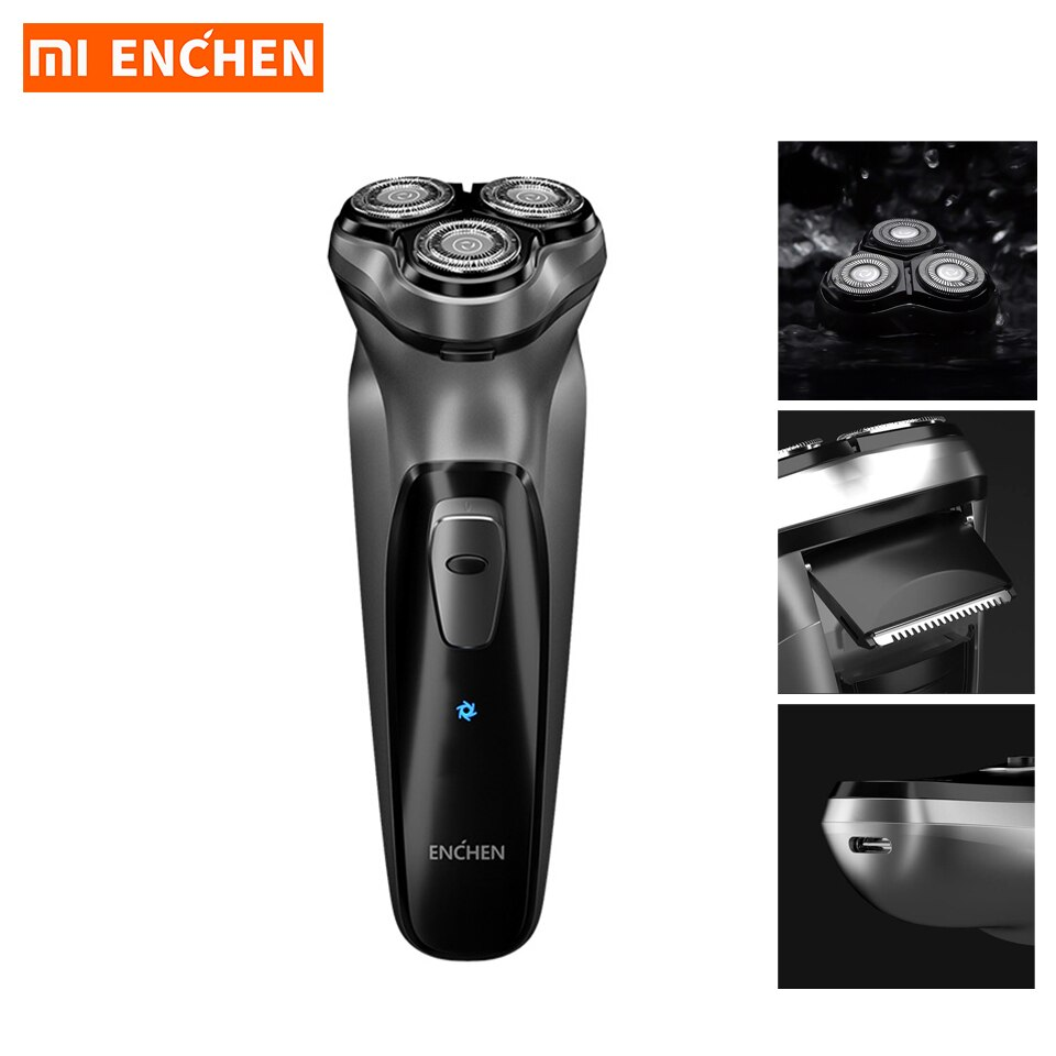 Xiaomi Enchen Electric Shaver for Men's Razor Beard Trimmer BlackStone 3D face Shaving Beard Type-C USB Rechargeable Trimmer