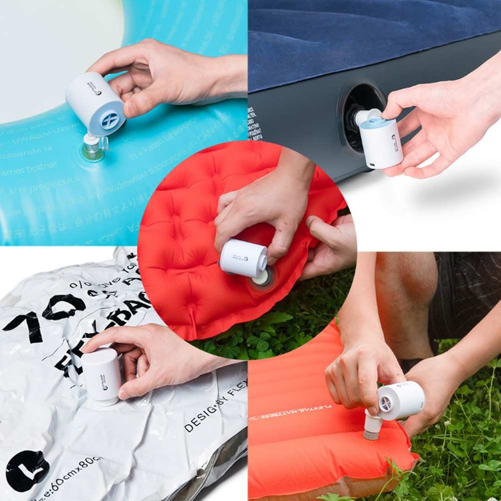 FLEXTAILGEAR 3-in-1Mini Electric Inflatable Pump Ultralight USB Charging Multifunctional Outdoor Air Pump 3 Modes Camping Light