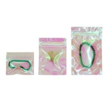100 Stuks Iriserende Zip Lock Bags Zakjes Cosmetische Plastic Laser Iriserende Tassen Holografische Make Tassen Hologram Rits Zakken