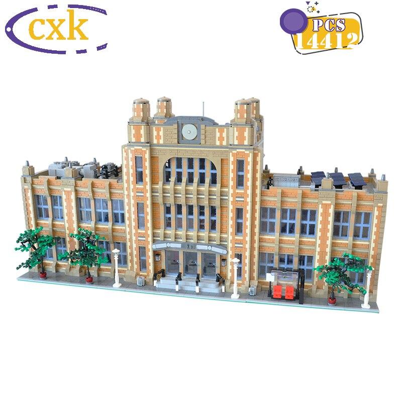 مدينة شارع عرض العمارة الطوب MOC-49130 مدرسة وحدات الإبداعية مثالية مجسم لمنزل ألعاب مكعبات البناء لهدايا الأطفال