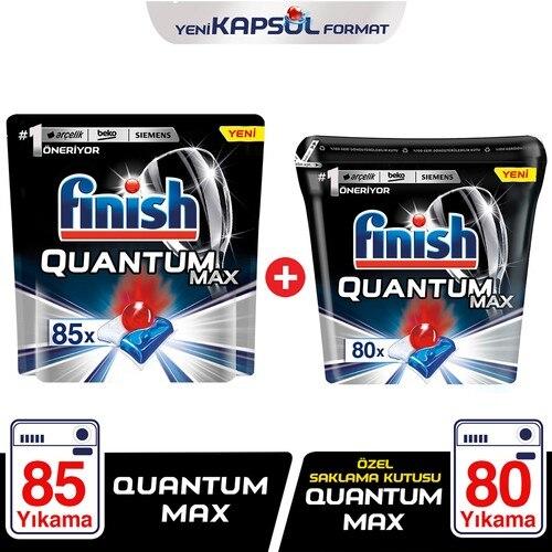 Afwerking Quantum Max 85 Capsule + Speciale Opbergdoos Quantum Max 80 Capsule Vaatwasser Wasmiddel