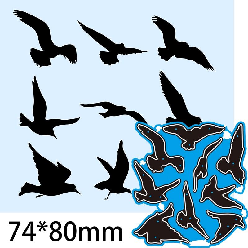 Cutting Dies Flying Eagle Bird DIY Scrap Booking Photo Album Embossing Paper Cards  74*80mm