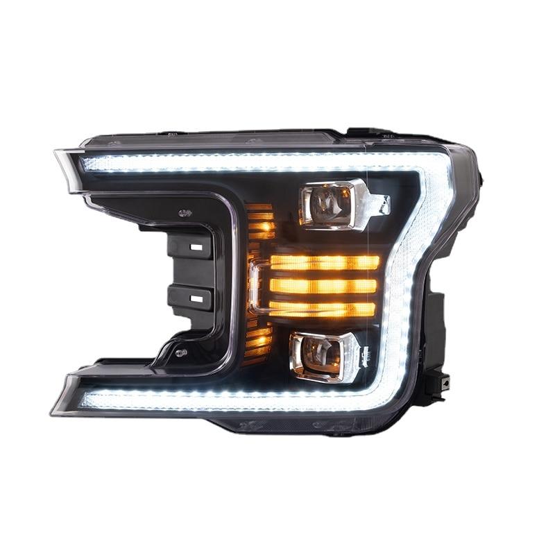 كامل LED لوبو الجبهة مصباح المصابيح الأمامية سيارة رئيس ضوء الجمعية 2018 2019 2020 مصباح تحديد أبعاد المركبة مصنع لفورد F150 F 150