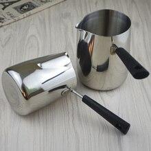 304 нержавеющая сталь Кофе чайник с длинной ручкой бариста молоко фритюрница кувшин чашка для эспрессо латте искусство кувшин турецкий Cezve для кофе