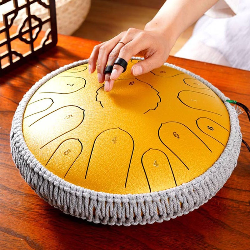 Ethereal Drum 14 Inch 15 Tone Forgetting Worry Drum Music Drums Percussion Mini Electric Drums Instrument Tongue Tambourine