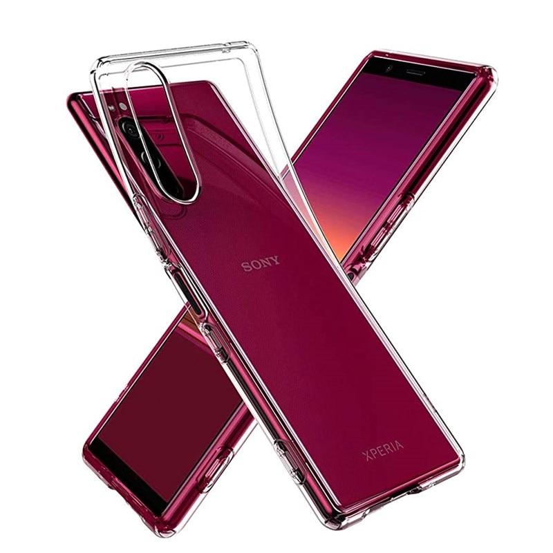 Carcasa de parachoques transparente para Sony Xperia 1, 5, 10, E5 XA, XA2, XZ, XZ1, XZ2, XZ3 Plus, Utlra L1, L2, L3, L4, carcasa de TPU blando Ultra Teléfono fino