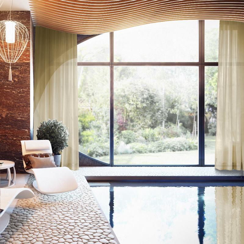 فوال-ستائر من القماش الخالص بلون عادي ، ونوافذ مخصصة لغرفة النوم ، ChadMade ، حسب الطلب ، على الطراز الاسكندنافي