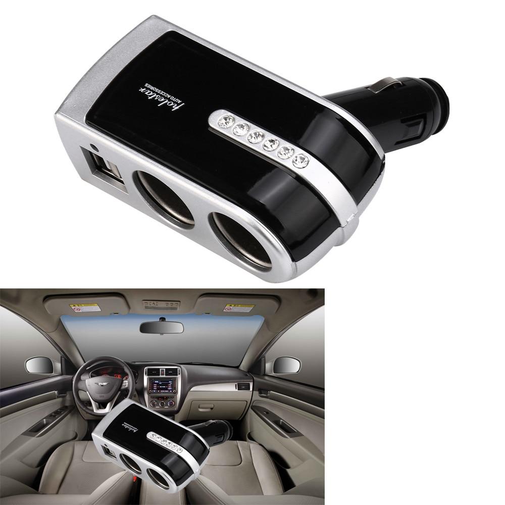 Universal 12V-24V encendedor de cigarrillos enchufe divisor doble USB de alta velocidad de carga accesorios de cargador para coches # LR3