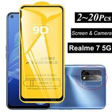 стекло и чехол реалми 7 5g чувствительный стекло + камеры пленка для OPPO Realme 7 5G 7 Pro силиконовый чехол Realmi 7 5G Экран протектор Realme 7 5G стекло