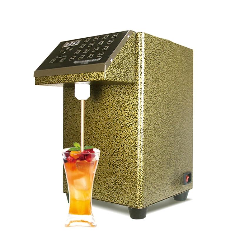 CE الذهبي الكهربائية التلقائي شراب السكر موزع/آلة موزع الفركتوز/فقاعة الحليب الشاي موزع السكر الكمي