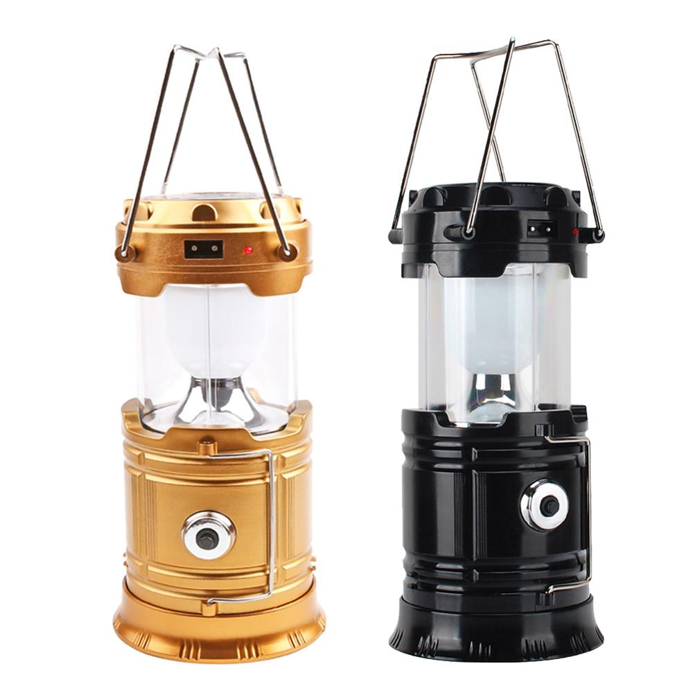 LED Camping Light USB Rechargeable Flashlight Portable Lighting Lantern Lamp Torch Outdoor Waterproof