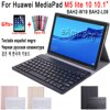 Huawei Mediapad M5 Lite 10 klavye durumda 10.1 inç BAH2-W09 BAH2-L09 BAH2-W19 Bluetooth klavye deri kapak Funda Coque