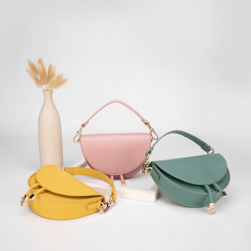 Bolso de mujer KYYSLO, bolso con imagen semicircular, bolso europeo y americano de moda, bandolera, riñonera, monedero para mujer y niños