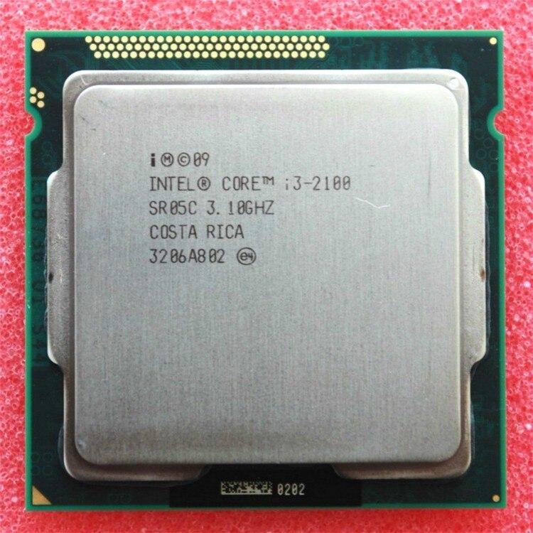 Процессор Intel Core i3 2100 3,1 ГГц 3 Мб Кэш двухъядерный разъем 1155 четырехъядерный настольный процессор I3-2100