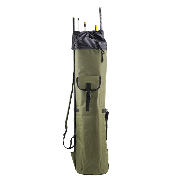 Fishing Tackle Bag Fishing Rod Bag Holdall Bag Travel Reel Carry Case Pole Tools Storage Bags Thickening Canvas enlarge