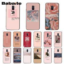Babaite Pink Aesthetics songs lyrics Aesthetic Phone Case For Samsung Galaxy A7 A50 A70 A40 A20 A30 A8 A6 A8 Plus A9 2018