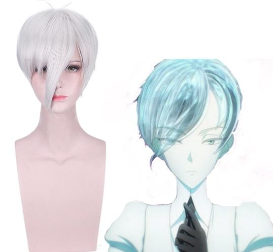 Anime Land Of The Lustrous Cosplay pelucas Antarcticite Cosplay peluca sintética pelo Halloween fiesta hoseki No Kuni Antarc peluca