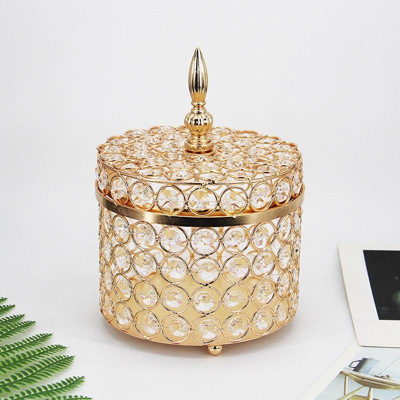 Bandeja única europeia intestino metal acrílico frascos de cristal carrinho bolo talheres sobremesa exibir caixa de jóias decoração