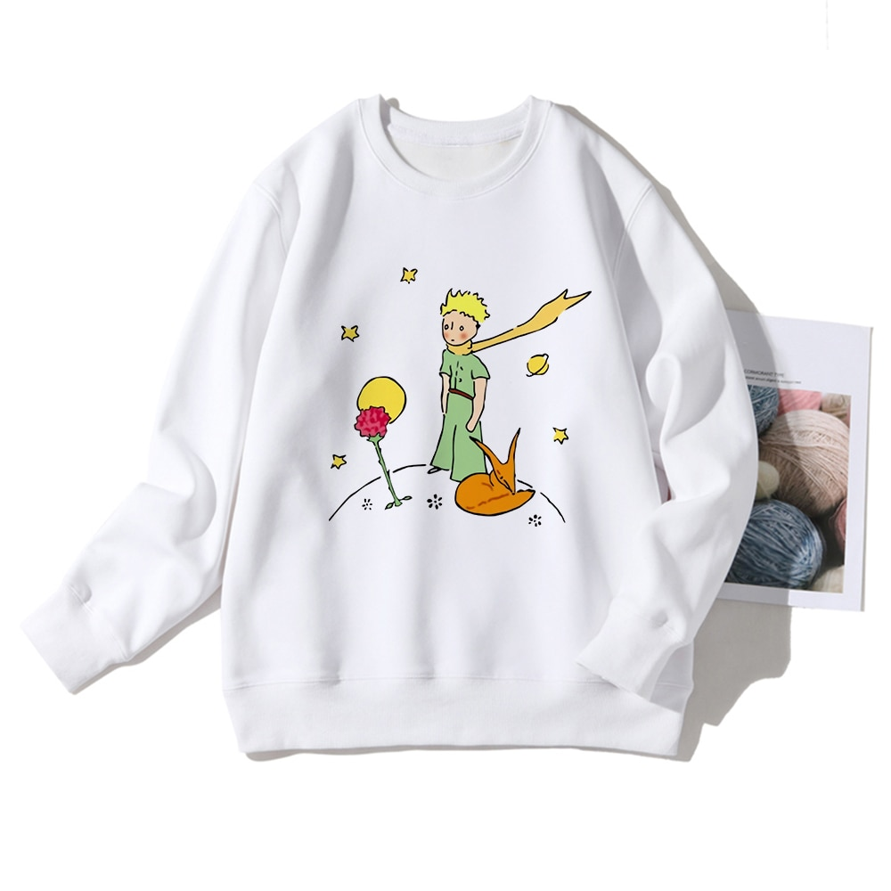 Le Petit Prince Aesthetic Hoodies Spain Popular Fashion Streetwear  Womens Sweatshirts Casual Long sleeve Pullovers Ropa Mujer