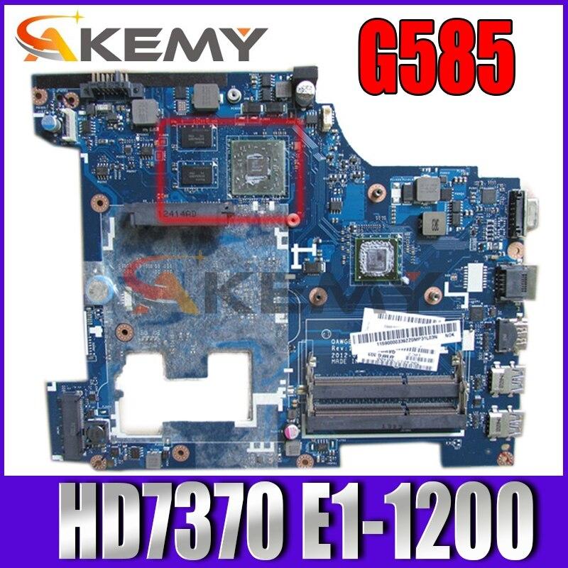 Akemy QAWGE LA-8681P REV 1.0 11S90000339 لينوفو ideapad G585 اللوحة الأم 15.6 ''HD7370 + E1-1200 وحدة المعالجة المركزية على متن الطائرة