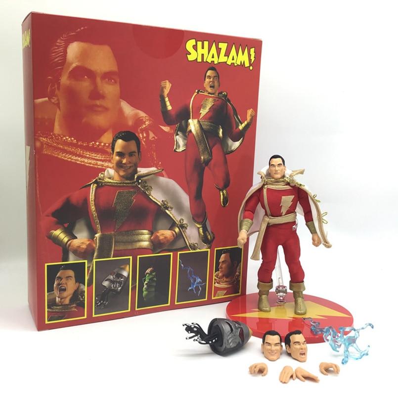 17cm vengadores Shazam PVC figuras de acción de juguete pleoner Billy Batson capitán maravilla juguetes de modelos coleccionables chico regalo