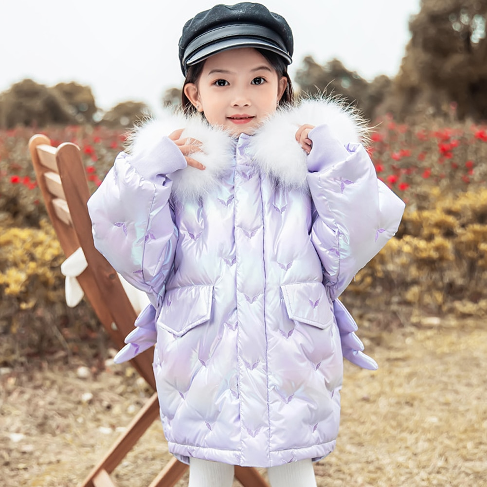 Girls Thicken Outerwear White Duck Down Coats Solid Padded Puffer Jackets Casual Warm Tops Children Kids Winter Hooded Clothes enlarge