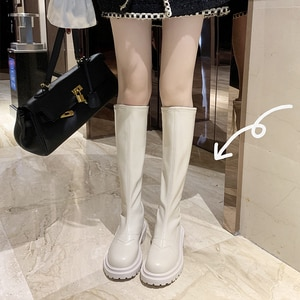 Lady Boots Brand Women's Shoes Sexy Thigh High Heels High Sexy Round Toe  Fashion Over-the-Knee Lolita Rubber Low Rock Mid
