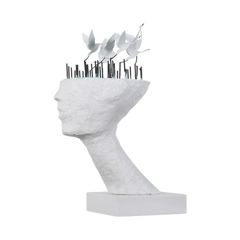 المعادن الأبيض كرين الفن مصمم نادي فندق الديكور الإبداعي الفضاء التجاري مبيعات مكتب النحات