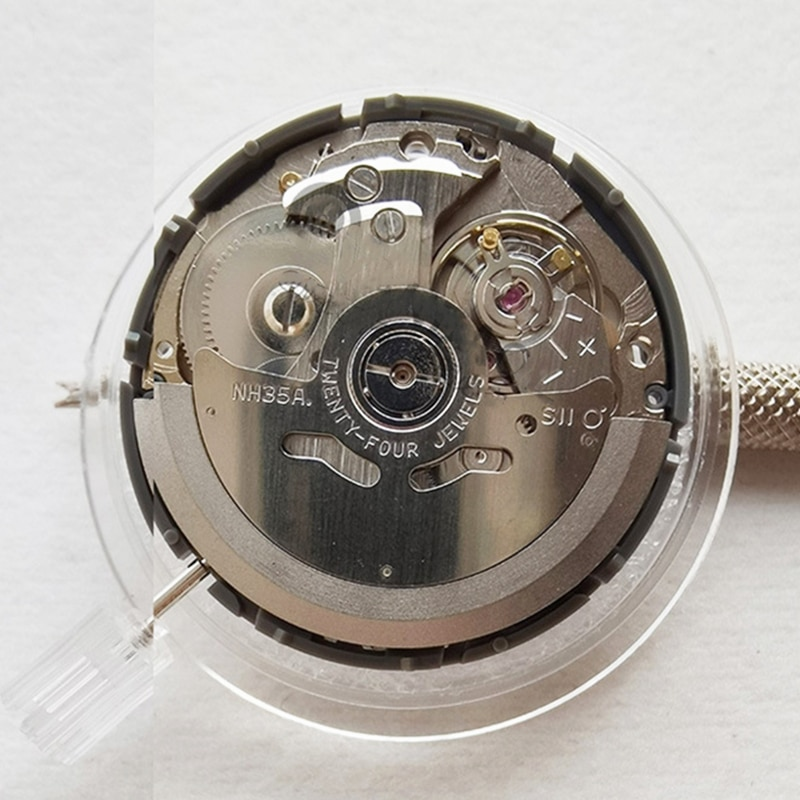 Seiko NH35 Automatic Watch Movement Day/Date at 3 Japan Brand Timepieces Parts Mechanical Seiko NH35 Movement Watch Accessories enlarge