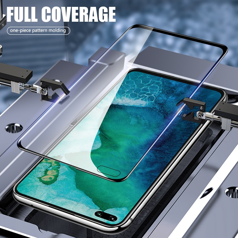 Tempered Glass for Huawei Honor V30 Pro black Full Cover Protective Glas Screen Protector
