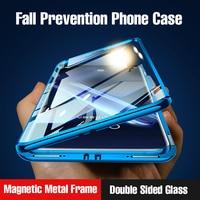 Мобильный телефон магнитный металлический корпус двухсторонняя стеклянная оболочка Huawei honor коврики 30 20 Lite P40 P30 P20 Pro 8x 9x Y9 P smart Z 2019