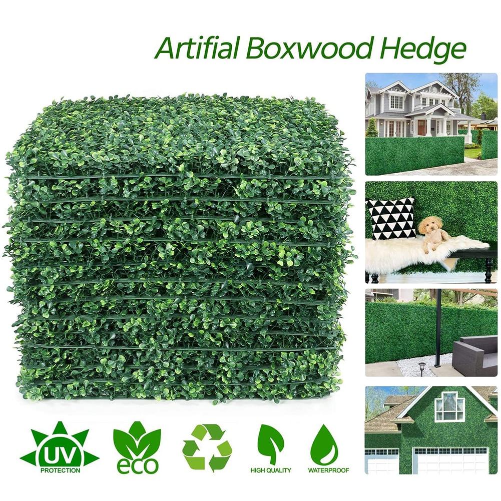 50-100 قطعة 40x60 سنتيمتر العشب الاصطناعي النباتات الحديقة لوحات جدار سياج المنزل حديقة خلفية ديكور