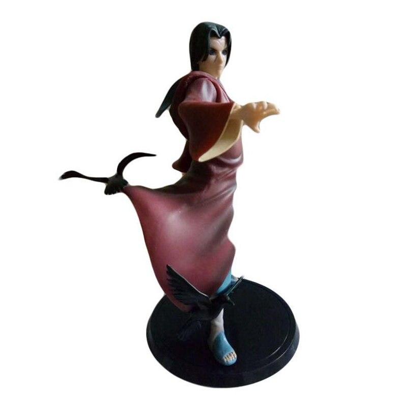 Anime Naruto Uchiha Itachi Rock figuras de acción de juguete Uchiha Sasuke hermano Naruto Sharingan figuras modelo juguetes para niños de regalo