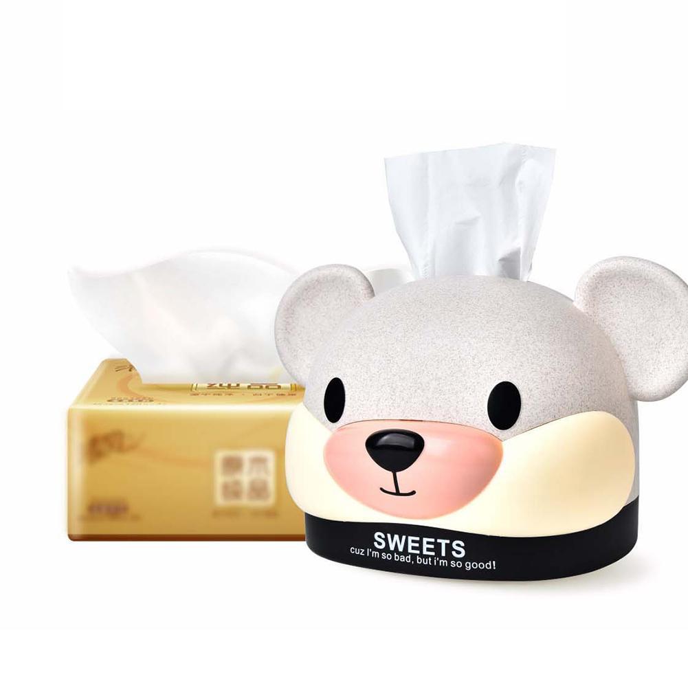 2020 Año de la Rata caja de almacenamiento de pañuelos de dibujos animados en forma de ratón de papel servilletero organizador caso para la oficina del baño