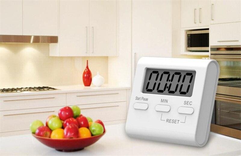 Кухонный таймер подсчет будильника напоминание о готовке ЖК-цифровые часы-таймер студенческий таймер для обучение работа