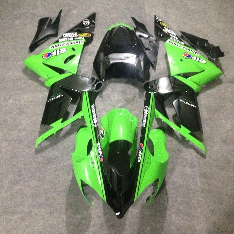 عالية الجودة أسود أخضر ABS البلاستيك هدية عدة لكاواساكي ZX 10R 2004 2005 النينجا zx10 04 05 دراجة نارية هدية مجموعة