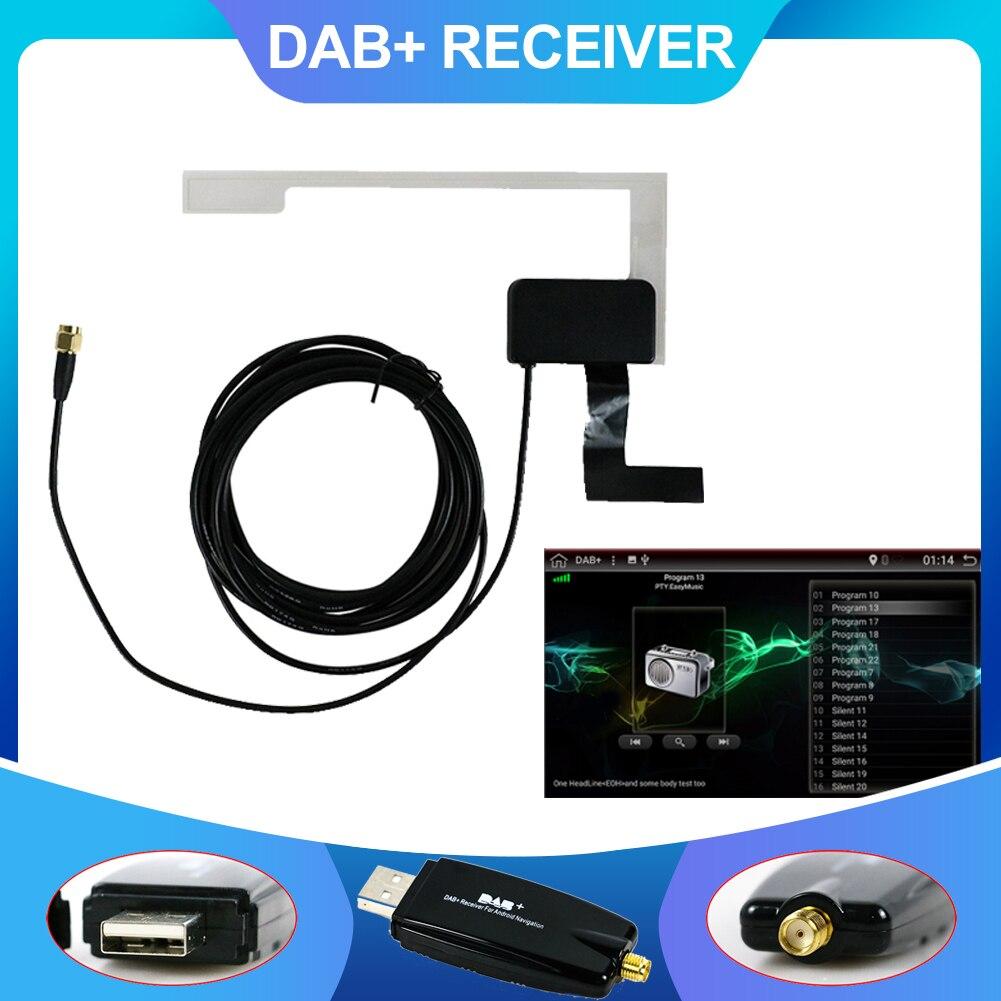 DAB + antena con adaptador USB, receptor para reproductor estéreo de coche...