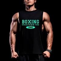 man gym boxing bodybuilding tank top sleeveless shirt male fitness vest breathable undershirt singlet workout sportswear tops