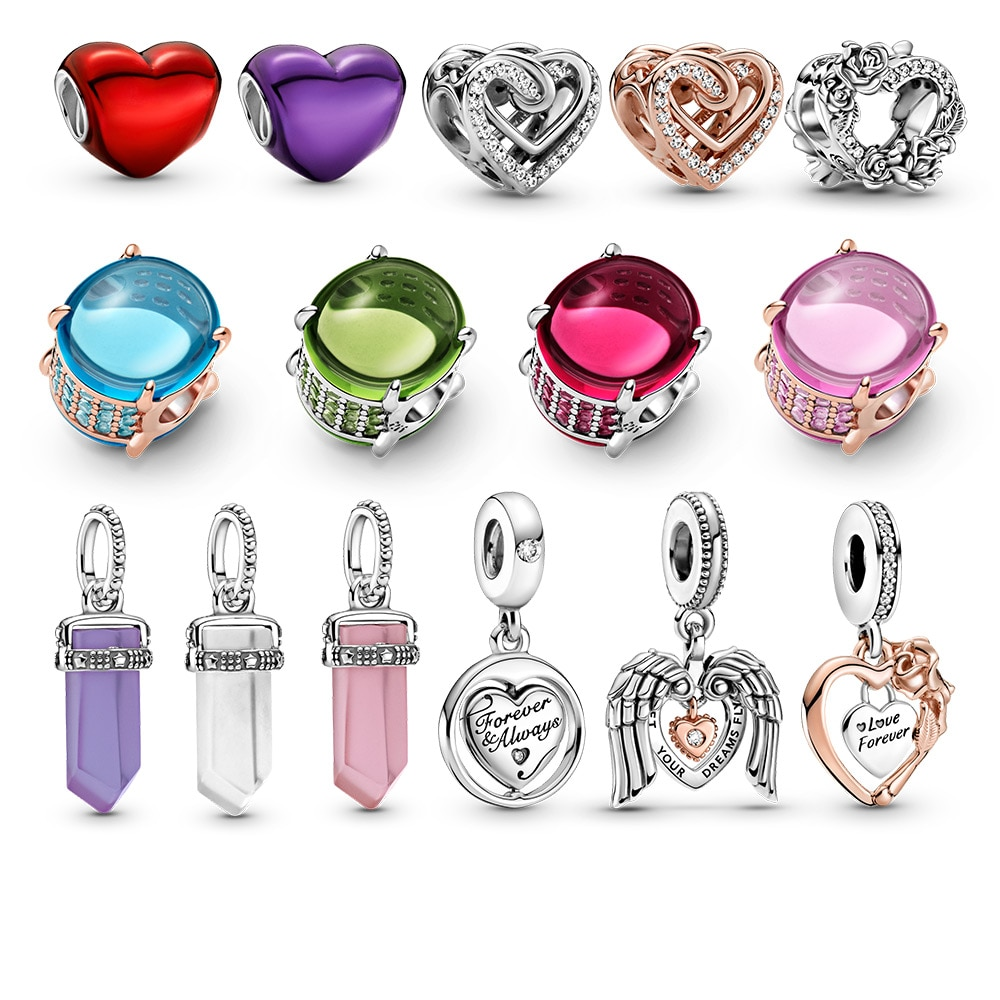 2021 New charm COLOURS PAN jewelry Couple Suitable for 3MM snake bone chain Nacklace fit PDR women V