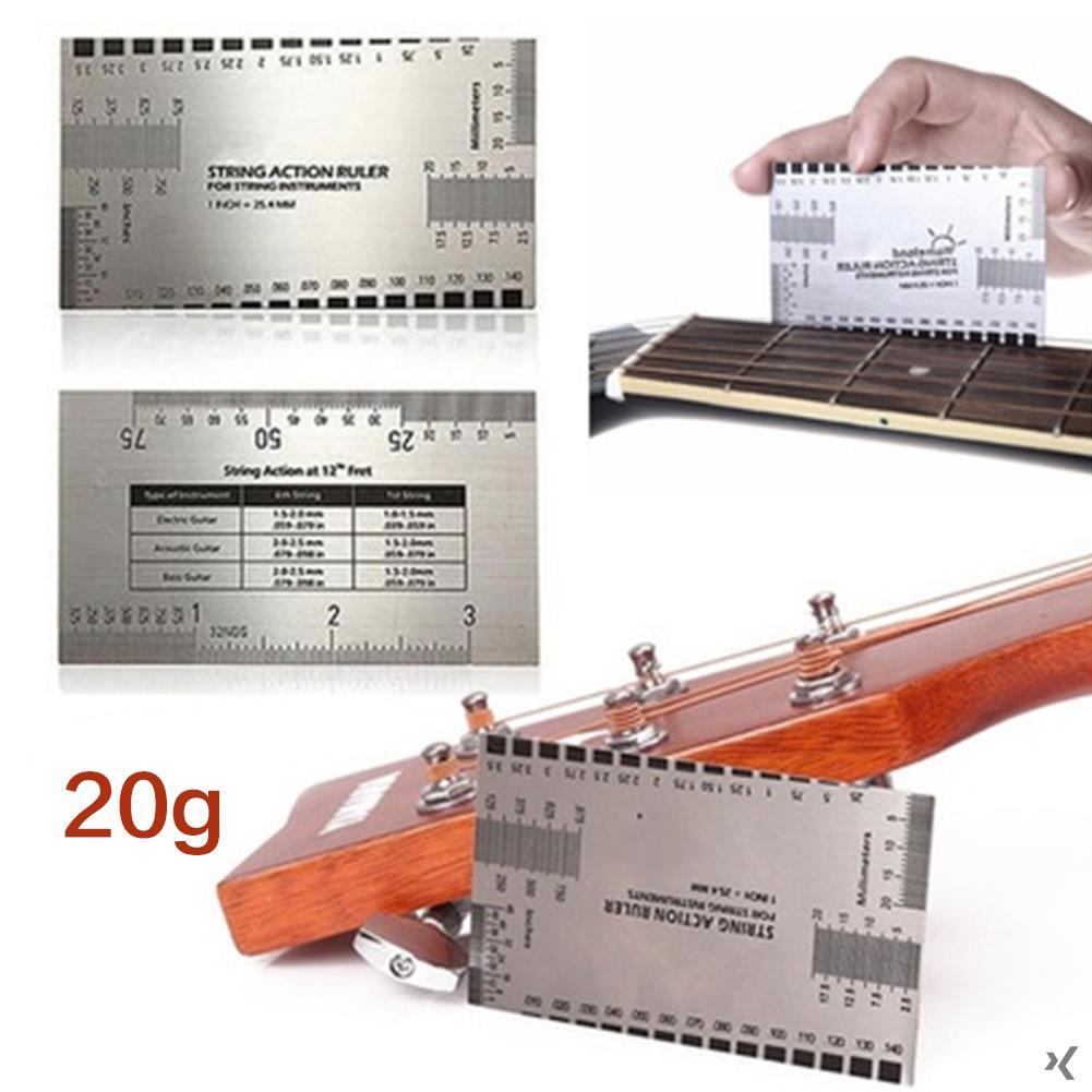 String Distance Ruler Steel Ruler Measure Measuring Tool Silver Suring Electric Guitar Dividing Rule Guide Chord