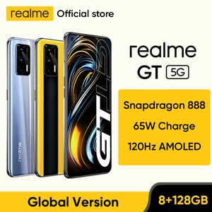 realme GT 5G Smartphone Global Version Snapdragon 888 65W Super Dart Charge 120Hz 6.43