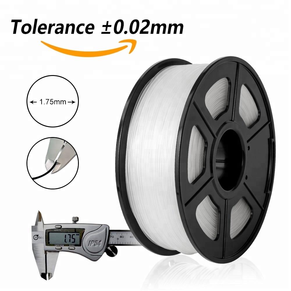 Sunlu filament imprimante 3d petg for 3d printer 100% no bubble 1kg 2.2lbs spool white black petg filament with Vacuum packaging enlarge