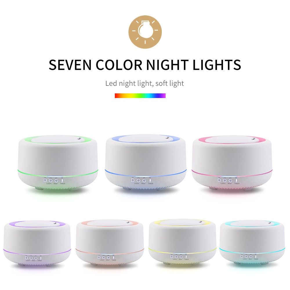 1200ml large capacity essential oil diffuser household mist maker ultrasonic humidifier dc24v aroma oil diffuser night light 700ML/1200ML Large Capacity Aromatherapy Diffuser Essential Oil Aroma Ultrasonic Air Humidifier with Led Night Light